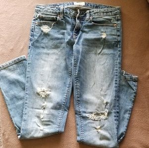 Aeropostale Distressed Low Rise Skinny Jeans